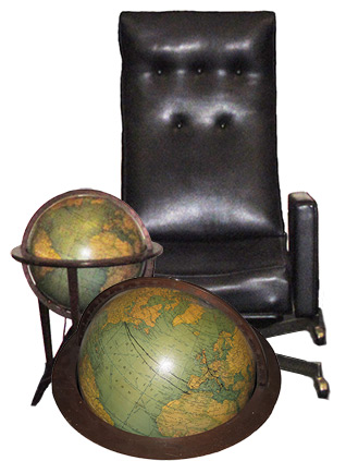 Steinbeck's chair and globe