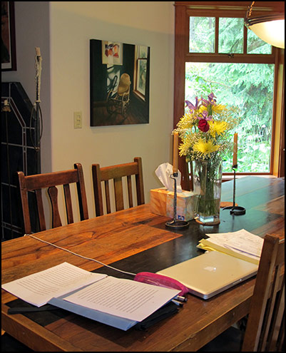 Karen Cushman's writing space, Authors Road