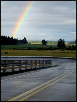 Rainbow on Sauvie Island, Authors Road